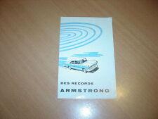 DEPLIANT amortisseurs Armstrong pour véhicule français année 50
