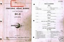 DOUGLAS DC-3  C-47 DAKOTA historic manual archive 1946 Strucural Repair Details