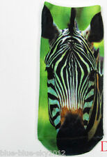 ZEBRA Trainer 3D Photo SOCKS UK Shoe Size 3-7 1 pair Cotton Blend UK Seller