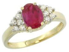 !!! BLACK FRIDAY SALE !!! 0.45ct ROUND DIAMOND YELLOW GOLD RUBY RING