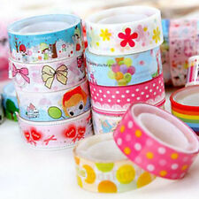 10Pcs Mixed Rolls Cartoon Decor Scrapbooking Washi Tape Adhesive Sticker Home