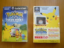 Game Cube POKEMON CHANNEL & Extended Pack  NTSC-J Japan USED RARE