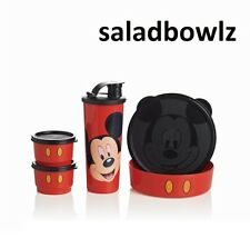 TUPPERWARE New MICKEY MAGICAL SNACK SET Disney Tumbler, Big Wonders, Snack Cups!