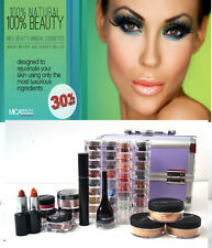 MicaBeauty Cosmetics Professional Artist Mineral Makeup Medium Set Purple Case