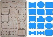 Cute Tags 1 Wooden Die Cutter Steel Rule Die Fits Big shot Pro, Sizzix New
