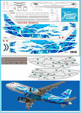 1/144 Airbus A319 Zenit Rossiya PAS-DECALS Rus-Air Zvezda