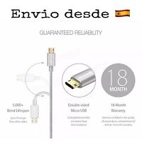 Cable Reversible Cargador Android Micro USB - 2 Caras - 2 Sides