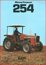 French Original  Prospect  Tracteur Tractor Massey Ferguson MF 254_ 2 pages