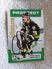 Toronto Maple Leafs Corey Syvret Signed 06/07 ITG H&P London Knights Card Auto