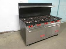 """""""FRANKLIN CHEF"""" HD COMMERCIAL (NSF) NATURAL GAS 10 BURNERS STOVE/RANGE w/2 OVENS"""