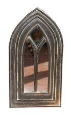 gotischer SPIEGEL, dunkelbraun-antik, ca.60x30cm, Rahmen Holz, handgeschnitzt