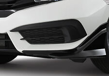 GENUINE BLACK FRONT LIP UNDER SPOILER 2PCS SET FOR HONDA CIVIC SEDAN 2016-2017