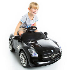 NEW BLACK MERCEDES BENZ SLS R/C MP3 KIDS RIDE ON CAR ELECTRIC BATTERY TOY