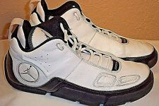 Nike Air Jordan White/Black/Chrome High Top Size 8.5 #317845-101 2007