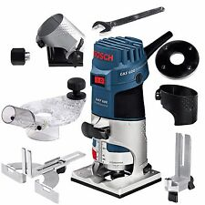 "Bosch GKF600 1/4"" Palm Router Laminate Edge Trimmer GKF 600 + Accessories 110V"