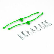 Body Klip Retainers Lime Green (2)  DU-BRO RC Ca/Truck DUB2253