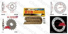 DID X Ring Gold Chain Kit 16/43t 530/110 fit Honda VFR800 F1 2 Intr VTEC  02-13