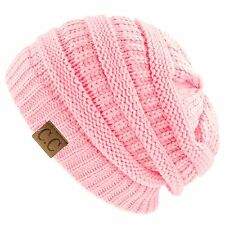 CC BEANIE Slouch Knit Cap Oversize Caps Baggy Ski Hat Unisex Winter Women Hats