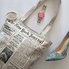 New kate spade new york Canvas Shopper shopping Tote Newspaper handbag boho hobo