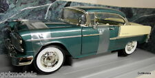 Ertl 1/18 Scale - 7256 1955 Chevrolet Bel Air metallic green diecast model car