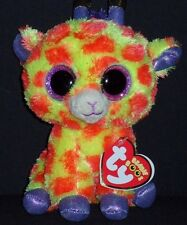 """TY BEANIE BOOS - DARCI the 6"""" GIRAFFE - JUSTICE EXCLUSIVE - MINT with MINT TAG"""