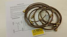 "Land Rover SERIES 2/2a & 3 Kunifer & Brass Brake Pipe SET 88/109"" NEW"