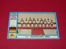 N°236 DEUTSCHLAND 1968 PANINI OLYMPIA 1896 - 1972 JEUX OLYMPIQUES OLYMPIC GAMES