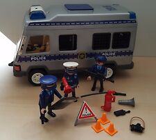 Playmobil Police Riot Van With 3 Figures Flashing Lights Lots of accessories