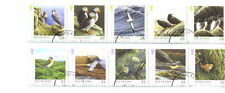 Isle Of Man Birds set of 10 fine used 2 strips