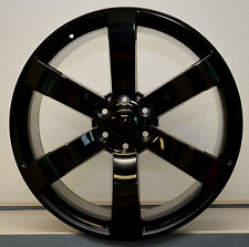 "NEW! Set (4) 24"" Gl Black SS Style Chevy GMC Silverado Sierra Tahoe Wheels Rims"