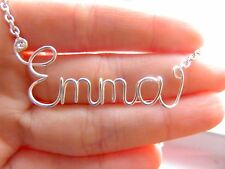 Personalized Silver Wire Name Necklace