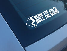 BEND THE RULES RULE THE BENDS FUNNY CAR STICKER DECAL DRIFT JAP EVO JDM BUMPER
