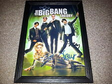 "THE BIG BANG THEORY PP SIGNED & FRAMED 12X8"" A4 POSTER JIM PARSONS KALEY CUOCO 2"