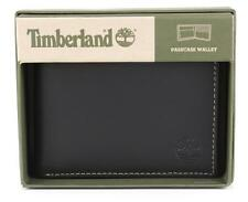 NEW TIMBERLAND MEN'S PREMIUM GENUINE LEATHER PASSCASE WALLET BLACK D50388/08