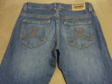 075 MENS EX-COND BEN SHERMAN ICON STR8 LEG BLUE FADE JEANS 31 / 34L $140.