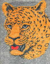 LEOPARD vintage 70s iron on t shirt transfer full size NOS