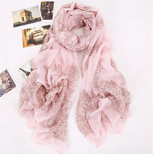 TOP QualIty Vintage Chinese Lady Fashion Style Cotton Voile Porcelain Scarf Shaw