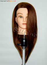 "*USA SELLER*  22"" Cosmetology Mannequin Head 100% HUMAN Hair  ED"