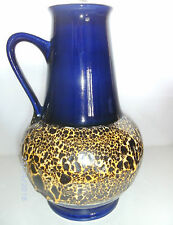 Blumenvase Bay Keramik Fat Lava 70er Design Henkelvase pottery 30cm Germany