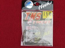 hayabusa tns offset hamecons texan 1/0-8 pieces made in japan