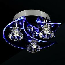 Modern moon star shade Chandelier Modern LED Crystal Living 3 Lights