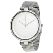 Skagen Tanja Silver Dial Ladies Stainless Steel Mesh Watch SKW2485