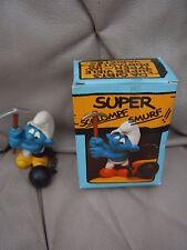 SCHLEICH Schlümpfe STRAFARBEITER 4.0213 OVP SUPER SCHLUMPF SMURF