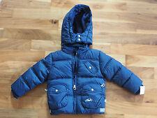 Kanz Baby Jacke mit Kapuze Blau Winterjacke Mädchen, Steppjacke Winter Gr.  86