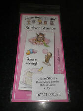 "Joanna Sheen House Of Mouse""Cake"" Birthday Rubber   stamps"