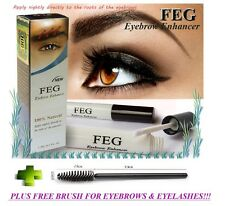 FEG Eyebrow Enhancer 3ml, Rapid Eye Brow Growth Serum - Fuller & Thicker Brows