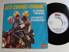 """LES COUAC-COUAC Le canard français 7"""" 45T CARABINE 66471 BELOLO POPP RABBATH"""