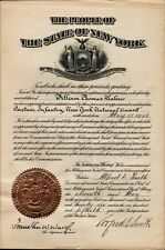 ALFRED E. SMITH Signed State of New York Document - 1926