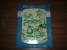 Vintage Meyercord small decal sheet Green rural toile scene