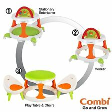 Combi Go And Grow Walker, Play Table And Chairs, Green, Small